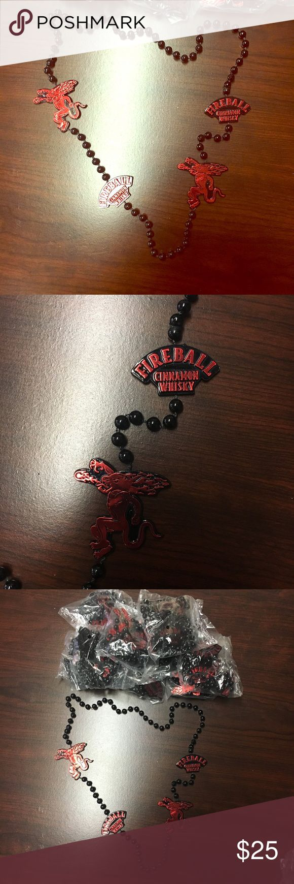 1(0pc) FireBall Whiskey Party Bead Necklaces Comes with 10 necklaces. New Other