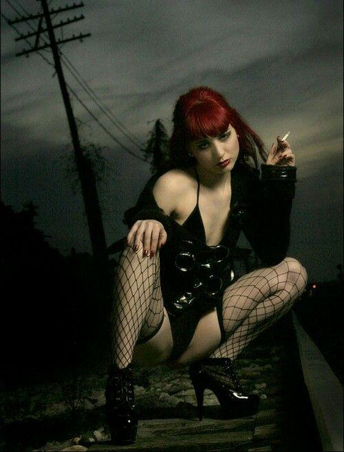 Redhead fetish goth #3