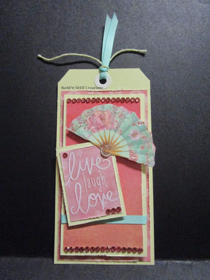 BaRb'n'ShEllcreations - Kaisercraft - Cherry Blossom Tags - made by Shell