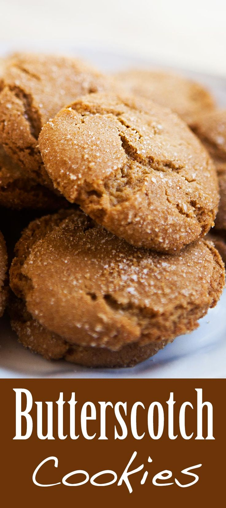 Crispy, crunchy butterscotch cookies! Made with brown sugar and browned butter. Perfect for dipping! On SimplyRecipes.com