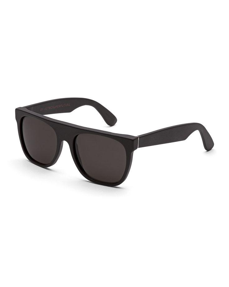 Flat Top Sunglasses, Black