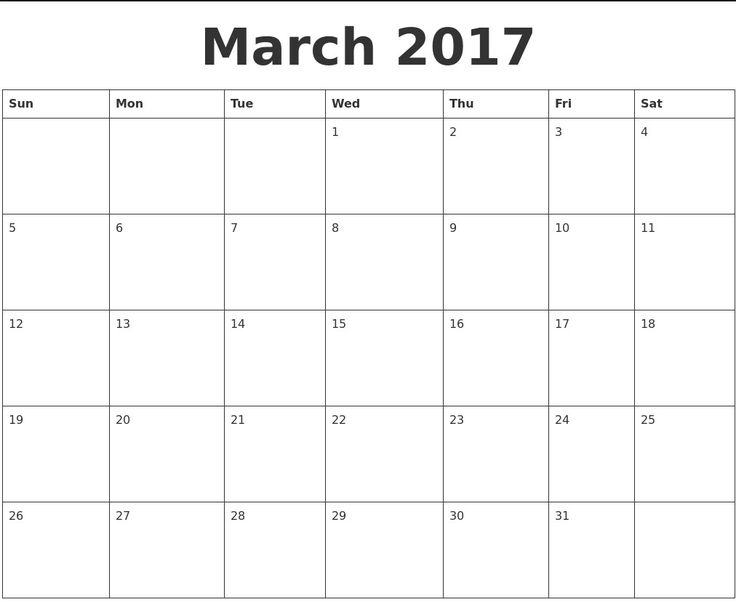 2017 calendar templates for word