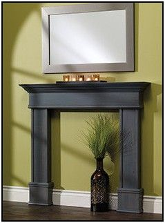 How To Make A Faux Fireplace Mantel Ideas