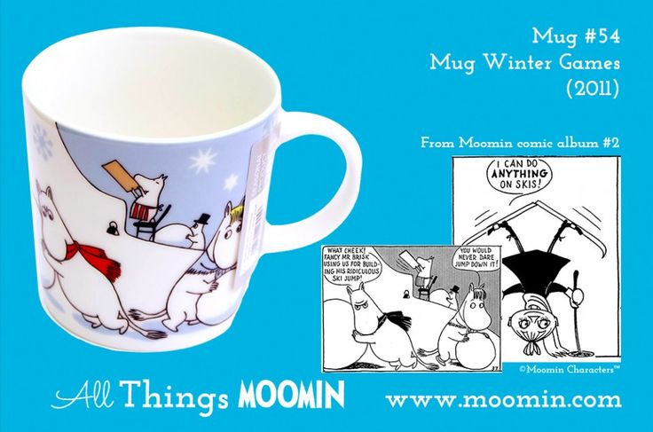 54 Moomin mug Winter games