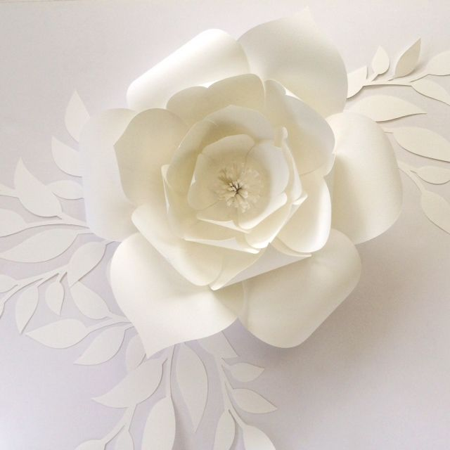 Paper Flower Template, DIY template to create your own paper flowers in 4 sizes.