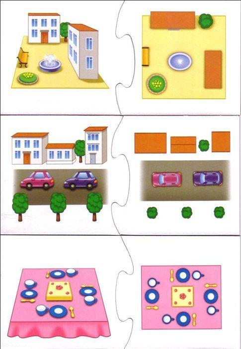 Lezen van eenvoudige plattegronden met kleuters 3, free printable