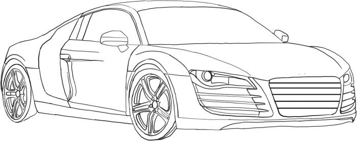 cars acura tl coloring page