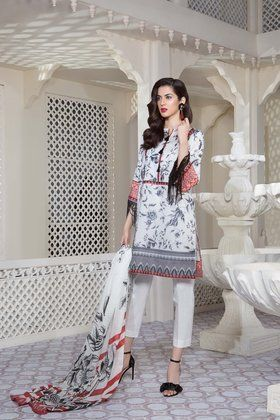 fbef56db2d Sapphire 3 Piece Lawn Vol-1 Custom Stitched Suit 2018 - Spring time ...