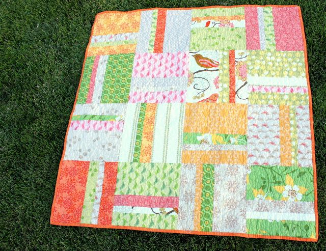 """FREE tutorial: """"Simple Stripes Quilt"""" from Diary of a Quilter: Easy Quilt, Simple Stripes, Craft, Baby Quilts, Quilt Patterns, Quilt Idea"""