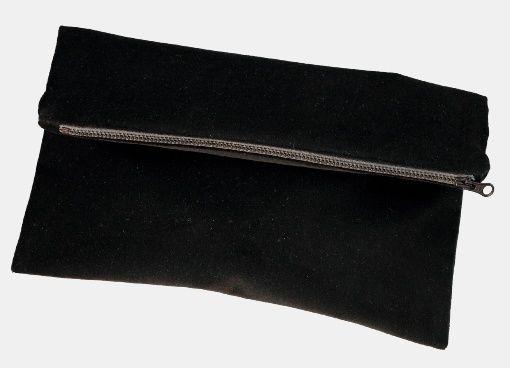 Woven velvet with stretch black - Stoff & Stil