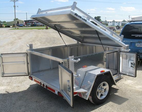 Alum Line Camping Gear Trailer Diamond Plate Double G Trailer Sales Camping Trailer For Sale