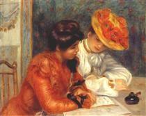 The letter - Pierre-Auguste Renoir