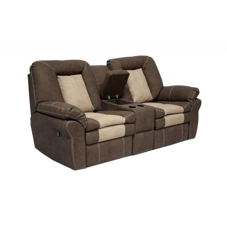 AC Pacific Carson Dual Reclining Loveseat With Storage Console