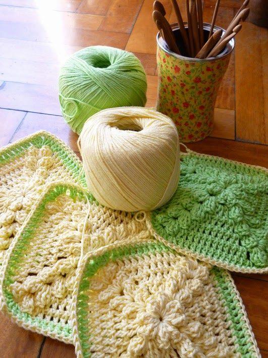 Crochet grannies DIY