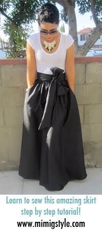 Maxi Skirt made w/silk dupioni from @Mimi B. B. B. B. Goodwin. Can I do it by spring break? sure gonna try!