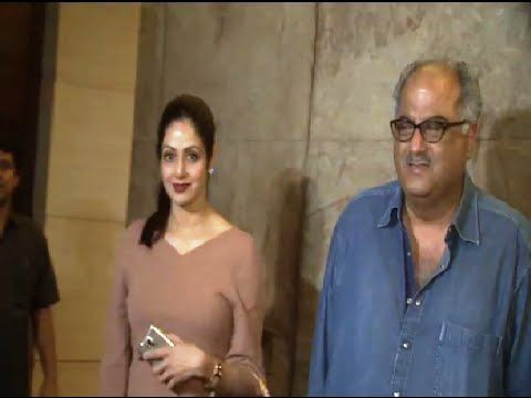 Sridevi at the special screening of Sonam Kapoor's movie KHOOBSURAT.