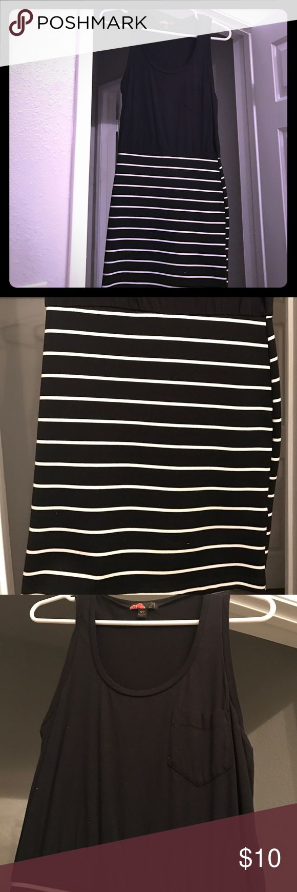 Black & White Striped Dress Black and white striped dress from forever21. Size small. Great condition. Forever 21 Dresses