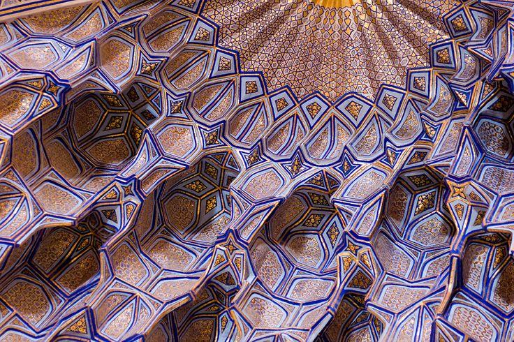 Ceiling of the Gur-e Amir Mausoleum, Uzbekistan