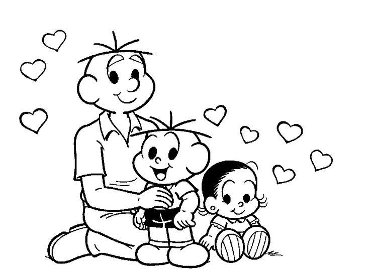 atividades de arte dia dos pais da turma da mônica
