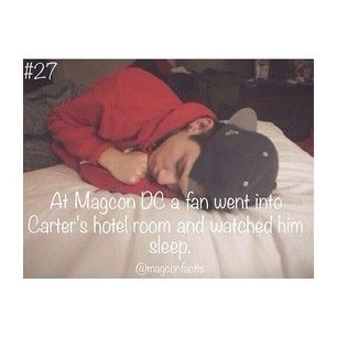 MAGCON FACTS I already knew that cameron left the door propped open