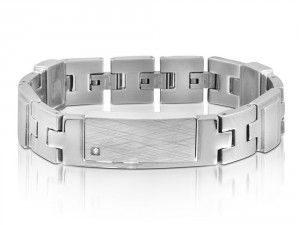 See the image of Mens Stainless Steel Bracelet Inori Identity - We Get Personal UK. You can engrave this bracelet with your own text. Need to read our size guide, before ordering an engraved bracelet. #personalisedbracelet #engravedbracele #engravedbracelets #MensStainlessSteelBraceletInoriIdentity