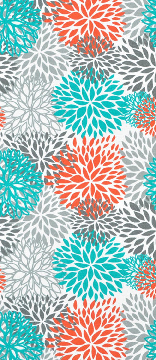 Premier Prints Outdoor Blooms Pacific Fabric