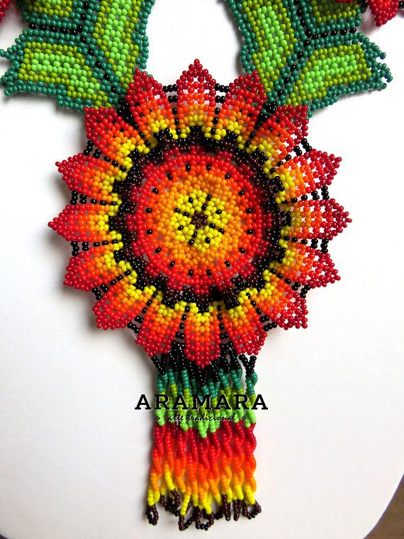 Dimensions Length 20.4 inches (51.81 cms) Diameter of the flowers 3.5 inches (8.89 cms) The Huichol represent one of the few remaining indigenous cultures left in Mexico. They live in self-imposed isolation, having chosen long ago to make their home high in the mountains of the Sierra Madre
