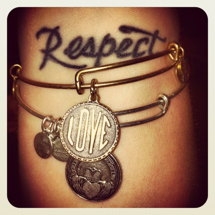 Tattoo Quotes About Respect: Respect! My Two Wrist Tattoos Are Y Favorite