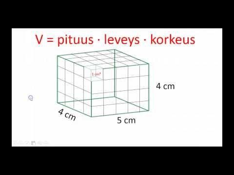▶ Suorakulmaisen särmiön tilavuus - YouTube (video 4:24).