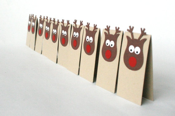 Christmas Place Tags Rudolph the RedNosed door TheOrangeWindmillToo, $10,00