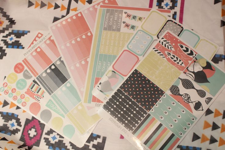 Tribal print theme full kit    Happy Planner (MAMBI) Stickers by printswithlaura on Etsy