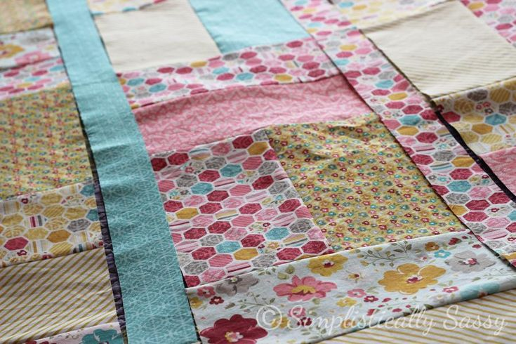 Simple Twin Quilt Pattern 1 by Simplistically Sassy
