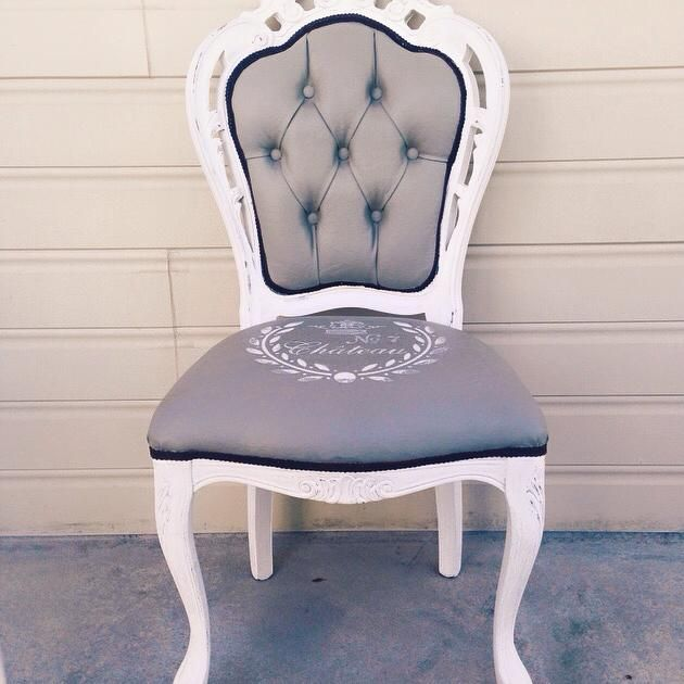 A Beautifully Transformed Set Of French Provincial Style Chairs Painted  With A Combination Of Pure White