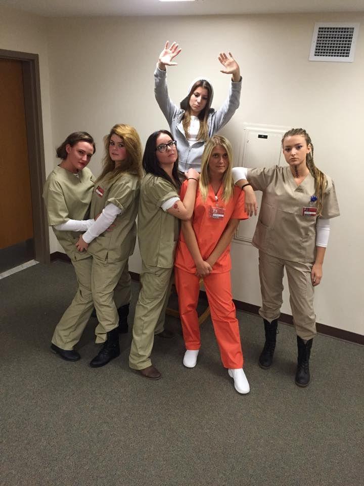 Diy orange is the new black group halloween costume dim for Group pics ideas