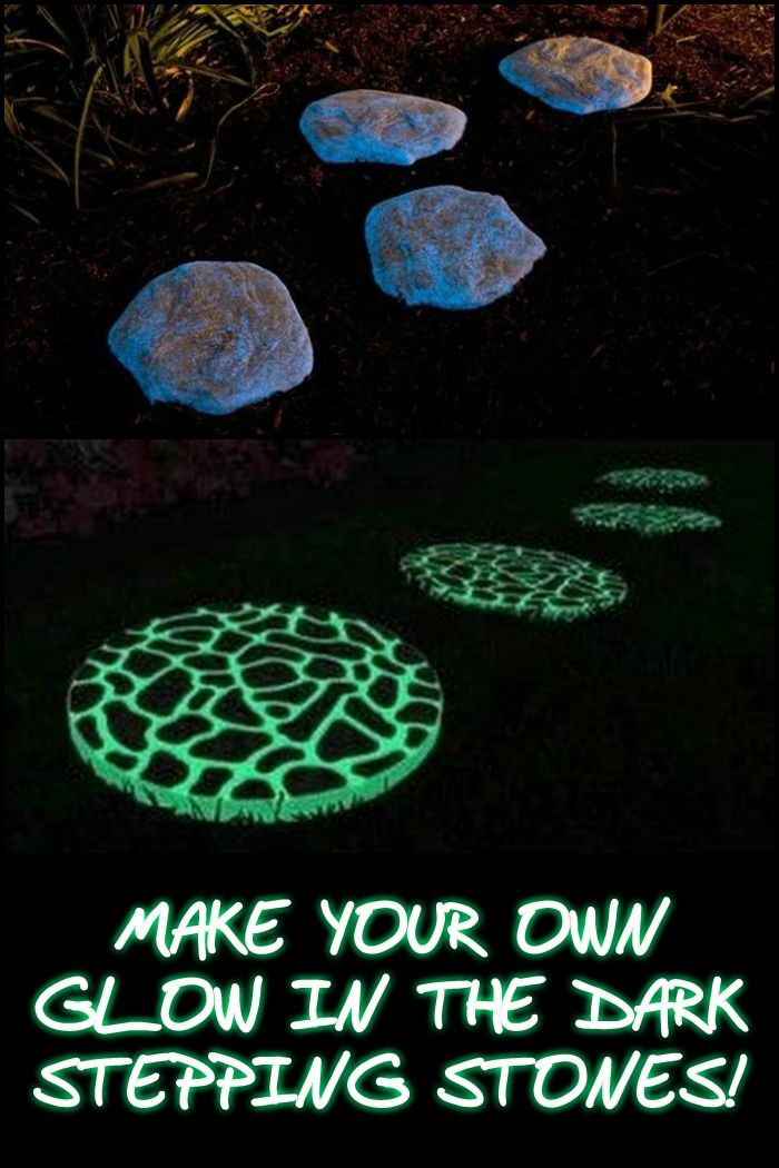 Make Your Own Glow In The Dark Stepping Stones!