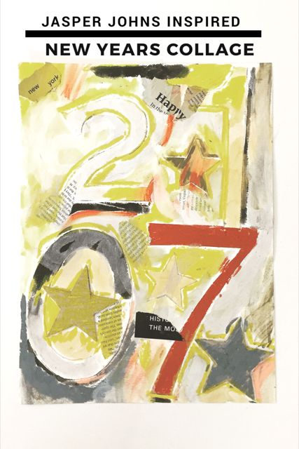 Jasper Johns Inspired New Year's Collage 14