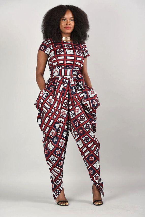 Emem Harem Jumpsuit Afrikaanse afdrukken kleding door RAHYMA