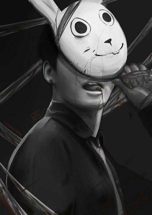 Imagem de bunny mask, killer jk, and deviantart