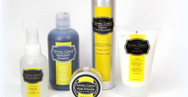 """Say """"goodbye"""" to bad hair days. Award winning and innovative hair products by Saving Grace Beauty are your solution.  Root cover, dry shampoo, purple shampoo (blondes, you NEED this!), heat protector and protein spray."""