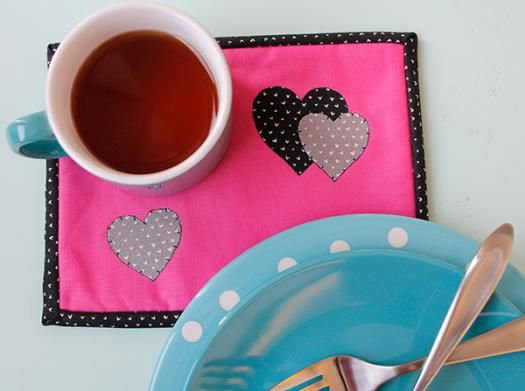 Celebrate Valentine's Day with a sweet coaster featuring little hearts.