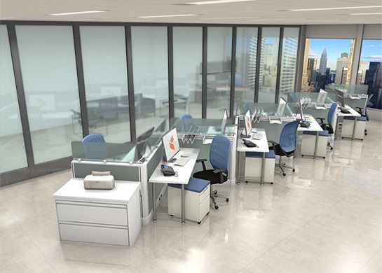 79 best images about open office workstations on pinterest
