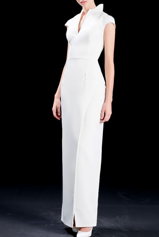 Structured White Gown