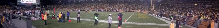 Panorama of Heinz Field during the game against the Chiefs #onlyinpgh #STEELERS