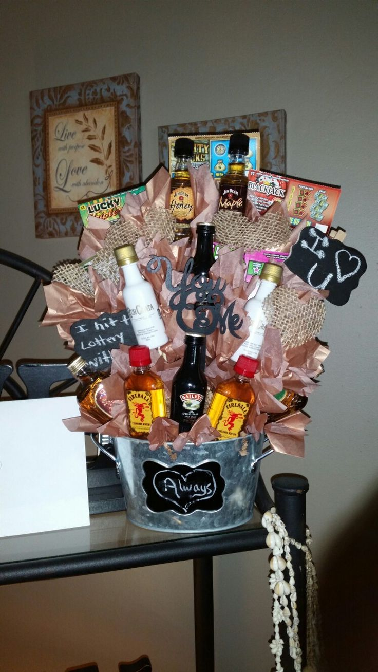 Booze bouquet for anniversary