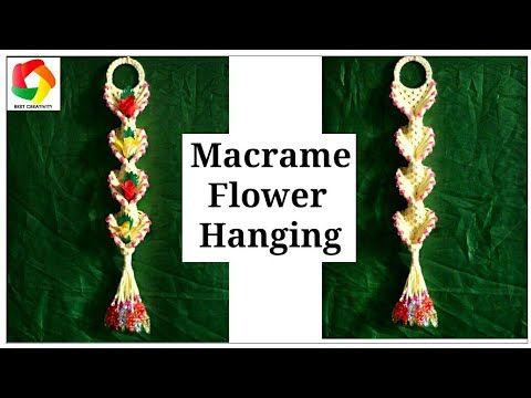 db2ef10f5 DIY macrame red rose flower/beautiful rose flower/macrame/macrame patterns/ roses/Educational power/ - YouTube