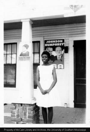 A Rust College student at the Freedom House in Holly Springs, Mississippi; undated :: Historical Manuscripts and Photographs