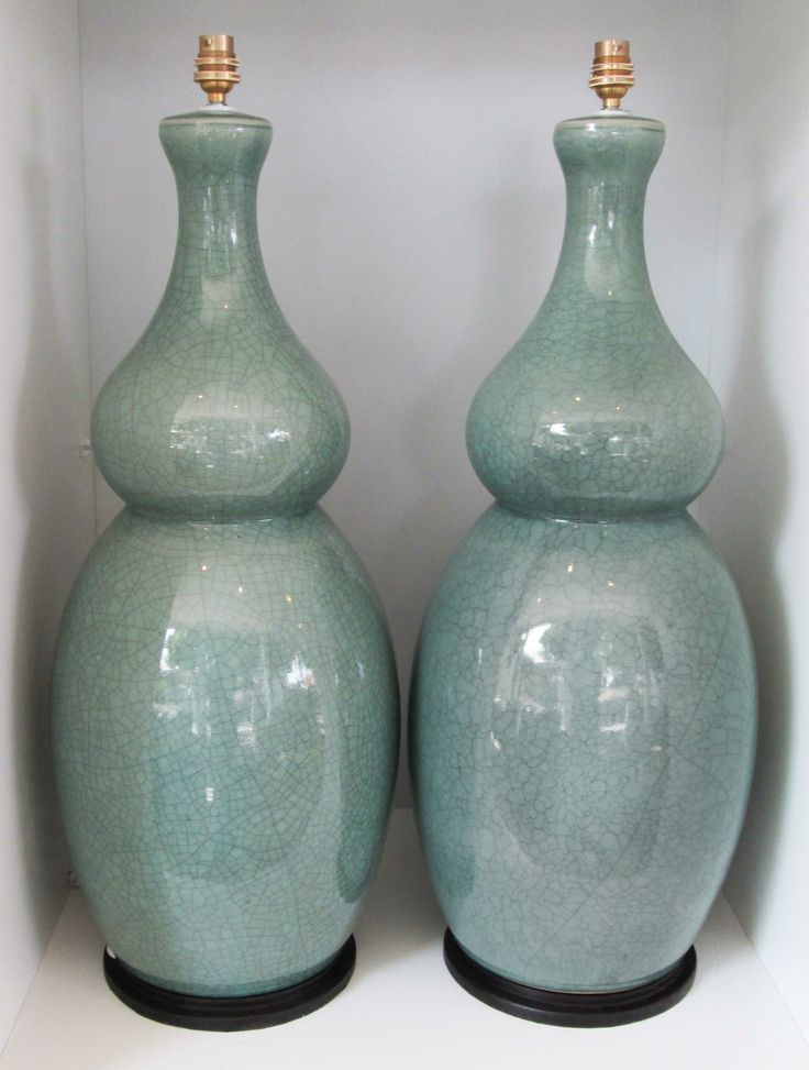 Crackled Ceramic Lampbases - Inside Out Home Boutique - Please check stock availability