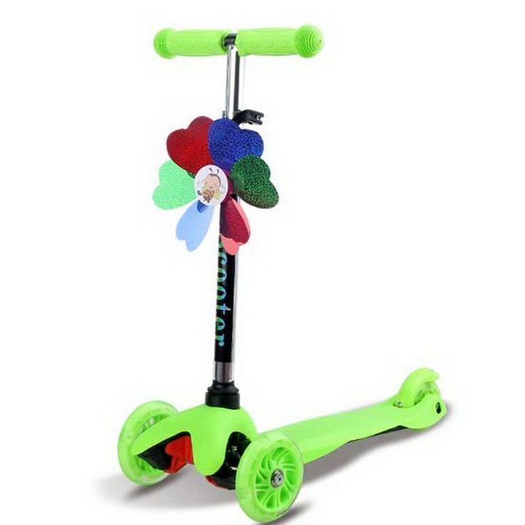 94.25$  Buy here - http://ai6ta.worlditems.win/all/product.php?id=32791561158 - 110210/2017 New aluminium Alloy Children scooter /three-wheel flash /three wheel Scooter/Smart gravity turns Adjustable height