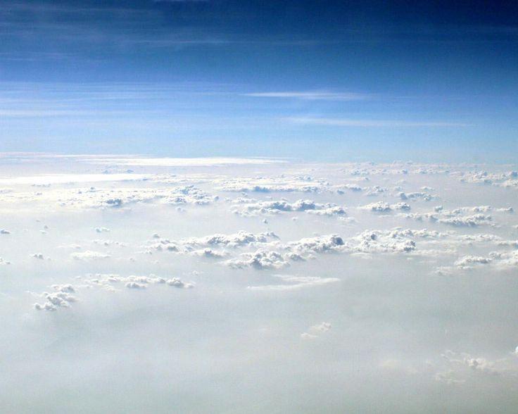 Sky above clouds free desktop background