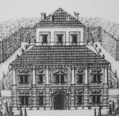 Ostrov - letohrádek | detail objektu raně barokního letohrádku z roku 1715